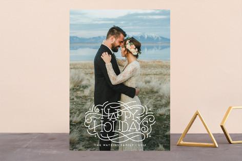 Flourished Holidays Holiday Photo Cards