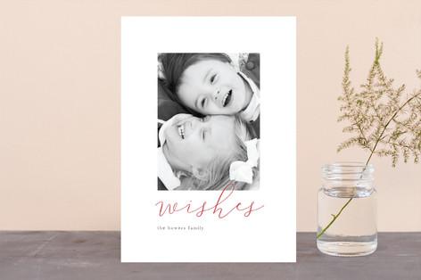 Minimal Script Holiday Photo Cards