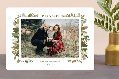 laurel of pines Holiday Photo Cards