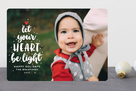Light-Hearted Christmas Holiday Photo Cards