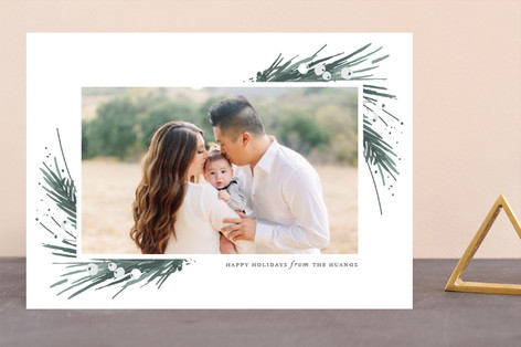 Evergreen Embrace Holiday Photo Cards