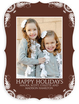Delicate Flourishes Holiday Photo Cards