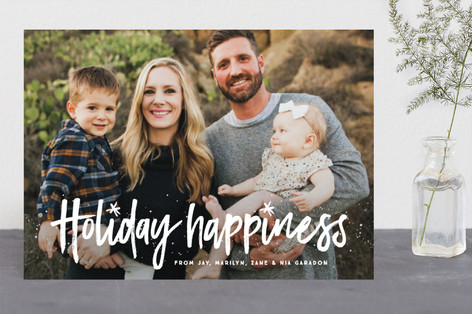 Wish for happiness Holiday Photo Cards