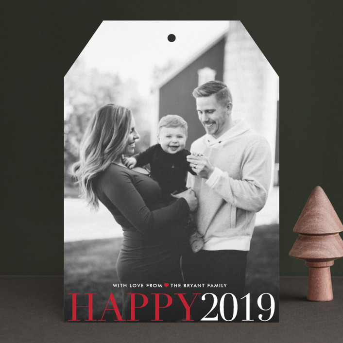 """""""Big and Merry"""" - Full-Bleed Photo, Modern Holiday Photo Cards in Midnight by Carrie ONeal."""