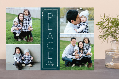 Framed Peace Holiday Photo Cards