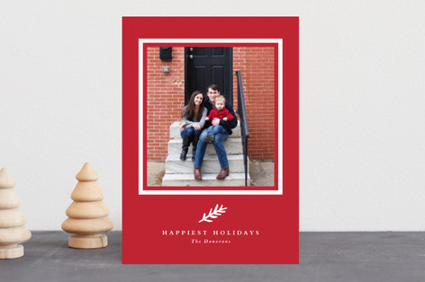 Classic branch Holiday Photo Cards