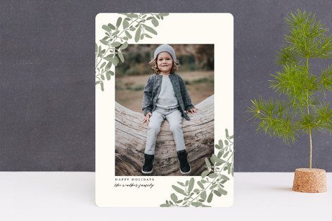 Sweeping Mistletoe Holiday Photo Cards