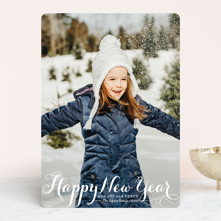 """""""Spirit of Christmas"""" - Full-Bleed Photo Holiday Photo Cards in Snow by Design Lotus."""