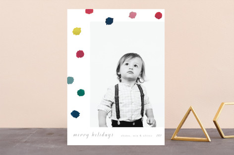 Pompoms Holiday Photo Cards