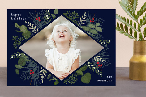 Holiday Botanical Holiday Photo Cards