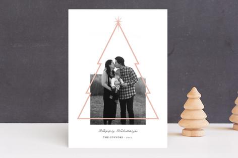 Minimal Christmas Tree Holiday Photo Cards