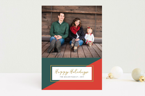 Colorblock Holiday Photo Cards