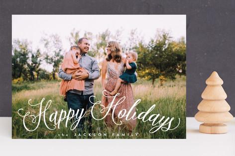 Fun Script Holiday Photo Cards