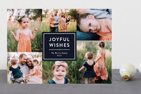 Joyful Wishes Collage Holiday Photo Cards
