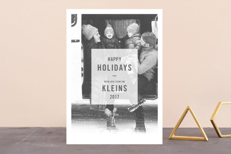 Low Toner Holiday Photo Cards