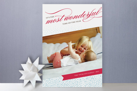 Most Wonderful Holiday Photo Cards