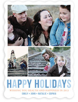 Minimal Trio Holiday Photo Cards