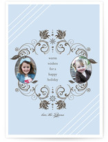 Snow Flourish Holiday Photo Cards