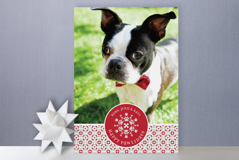 Happy Pawlidays Holiday Photo Cards