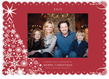 Snowflake Tree Holiday Photo Cards