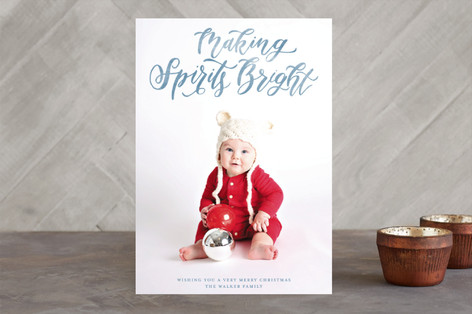 Silent and Holy Night Overlay Holiday Photo Cards