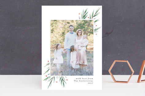 Soft Pine Holiday Photo Cards
