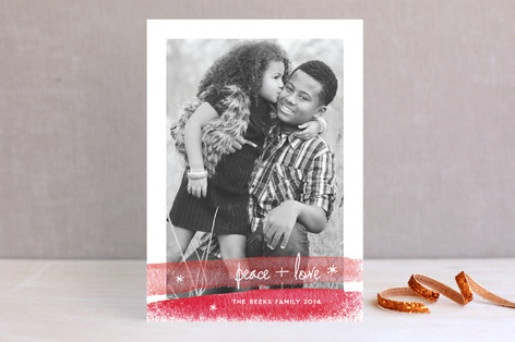 Winter Dipped Holiday Photo Cards
