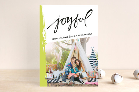 Painted With Joy Holiday Photo Cards