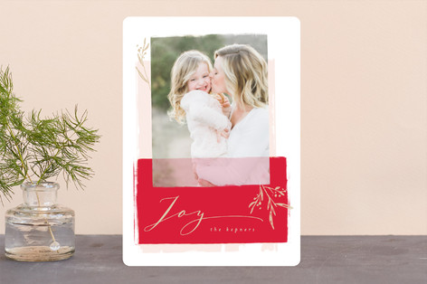 Modern Vintage Holiday Photo Cards