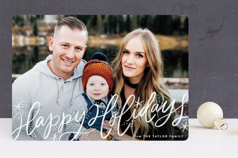 Merry and Bright Painterly Holiday Photo Cards