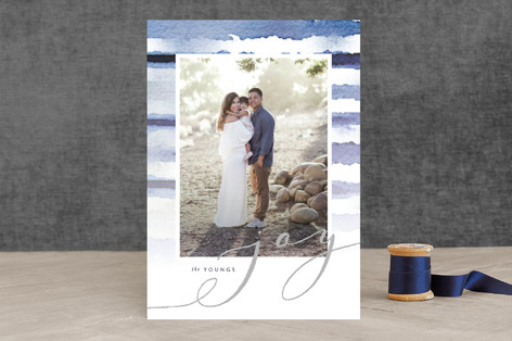 Shibori Holiday Stripes Holiday Photo Cards