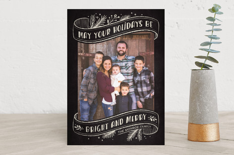 Brightly Chalked Holiday Photo Cards