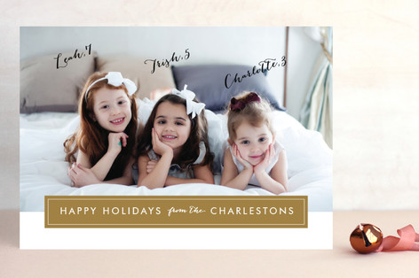 Modern Archive Holiday Photo Cards