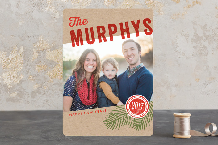 """""""We Are Family"""" - Holiday Photo Cards in Kraft by Oscar & Emma."""