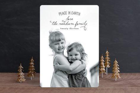 Elegant Peace Holiday Photo Cards