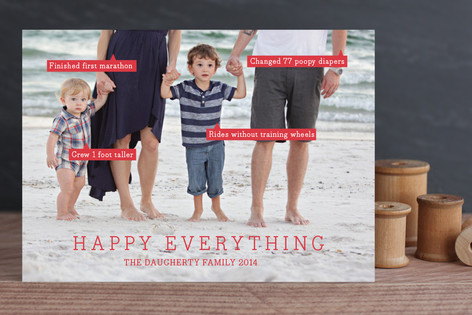 Conversation Bubble Holiday Photo Cards