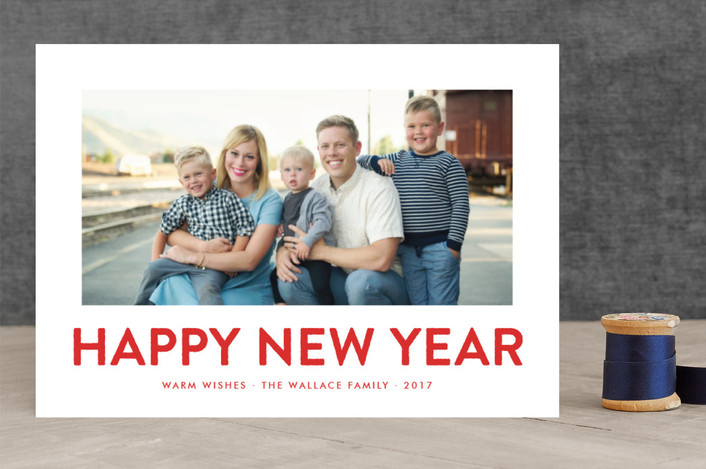 """""""Southern Accent"""" - Modern, Funny Holiday Photo Cards in Rodeo Red by toast & laurel."""
