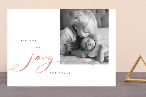 Playful Tidings of Joy Holiday Photo Cards