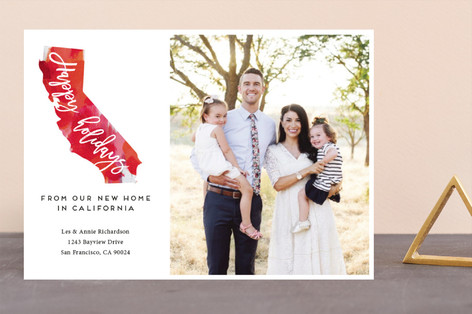 State Flower Silhouette Holiday Photo Cards