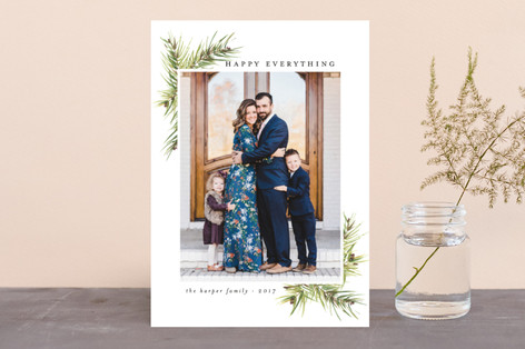 Corner Boughs Holiday Photo Cards