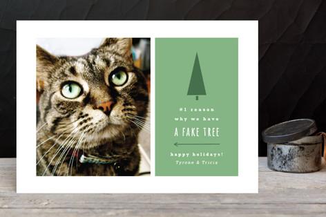 Fake Tree Holiday Photo Cards