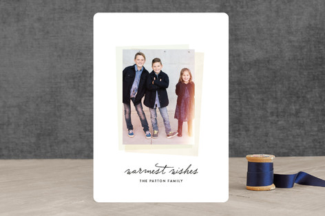 Instant Film Holiday Photo Cards