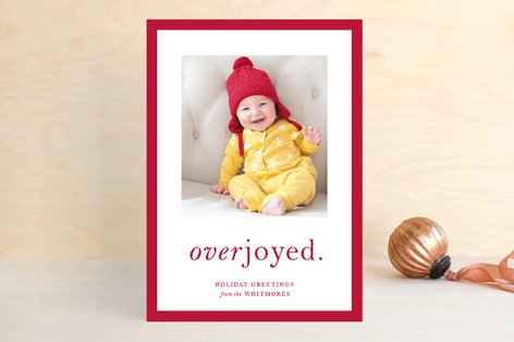 Simply Overjoyed Holiday Photo Cards