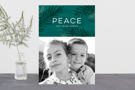 Peace Of Pine Holiday Photo Cards