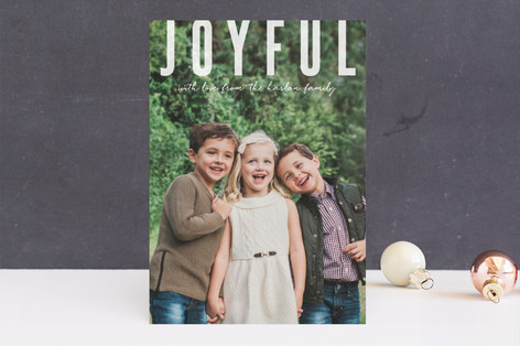 Joyful Greetings Holiday Photo Cards