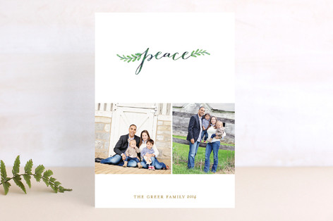 Gentle Peace Holiday Photo Cards