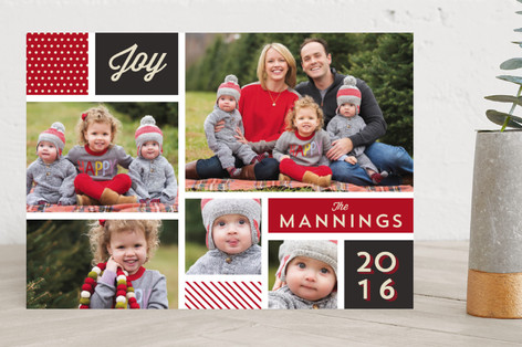Holiday Collage Holiday Photo Cards