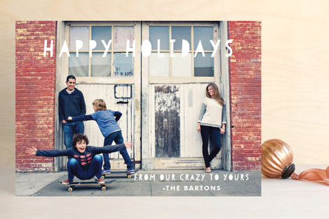 Crazy Holiday Photo Cards