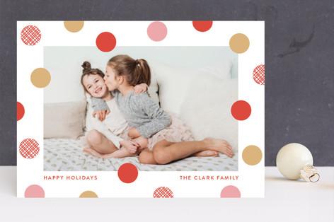 festive dots Holiday Photo Cards