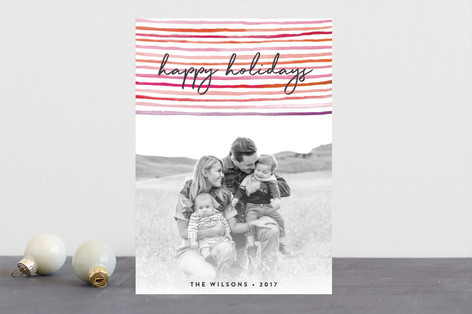 happy stripes Holiday Photo Cards